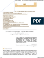 PLENARY ASSEMBLY (March 27-28, 2006) - Concluding Document