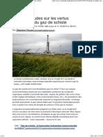 Bataille d'études sur les vertus climatiques du gaz de schiste