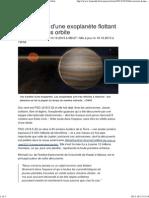 Découverte d'une exoplanète flottant seule et sans orbite