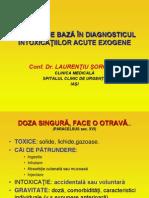 DIAGNOSTIC INTOXICA-ŢII ACUTE EXOGENE
