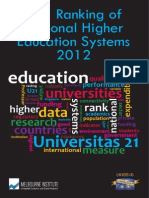 U21 Ranking of National Higher Education Systems 2012