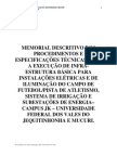 Memorial Descritivo_Iluminacao e Irrigacao Do Campo de Futebol_Campus II_V5