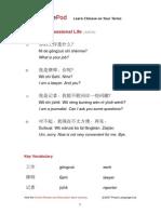Chinese Pod Advanced Professional Life