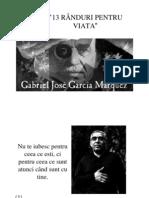 Gabriel Garcia Marquez - 13 Randuri Pentru Viata