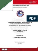 2005 Planeamiento Integral de la Construcción de 4 Bloques de 50 Viviendas Unifamiliares para el Programa mi vivienda