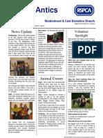 RSPCA Maidenhead & East Berks Newsletter _Q2 09_ Public