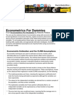 Econometrics for Dummies Cheat Sheet