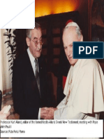Kurt Aland Meeting With Pope John Paul II