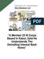 Military Resistance 11J5 Dwindling
