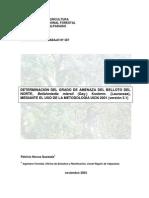Evaluacion del estado de conservación del belloto del norte, mediante la aplicación de la metodología UICN 2001