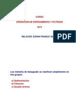 Curso de Espesamiento de Filtrado Utech 2013