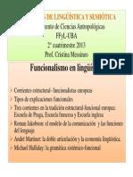 Funcionalismo en Lingüística