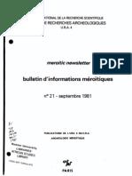 Bulletin D'informations Merdotiquesno 21 - septembre 1981