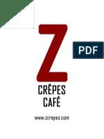 ZCrepe Cafe Menu