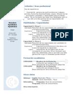 Curriculum Vitae Modelo3b Azul 1