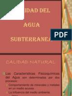 Calidad Del Agua Subterranea