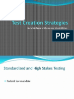 test creation strategies