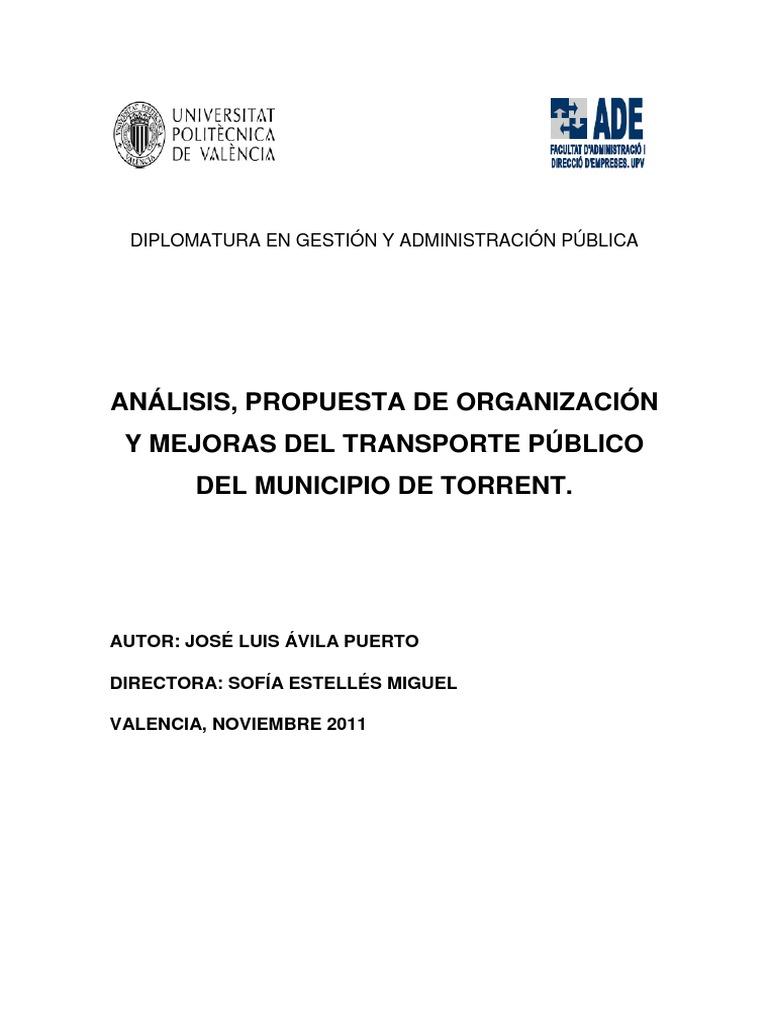 An Lisis Propuesta De Organizaci N Y Mejoras Del Transporte  # Muebles Fomento Sedavi