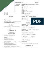 Exercicios Matrizes Determinantes Sistemas Lineares Resolvidos