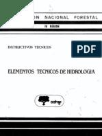 Elementos Técnicos de Hidrología, 1986