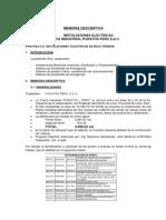 Memoria Descriptiva Con 220-380v