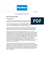 Broadway Digital Reissue Press Clips 7-22-09