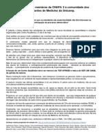 Carta Aberta da CHAPA 2 à Medicina Unicamp.