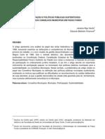 Participação e Políticas Públicas Sustentáveis - O Papel dos Conselhos Municipais em Passo Fundo