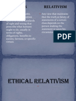 Ethical Relativism and Utilitarianism