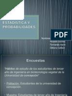 Estadistica y Probabilidades Ppt