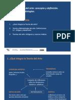 Teoría del arte, concepto y definición. Teorías y metodologías
