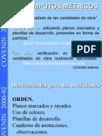COMPUTOS METRICOS COVENIN 2000