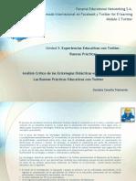 Análisis crítico de las estrategias didácticas empleadas en las buenas prácticas educativas con Twitter
