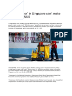 Working Poor in Singapore Are Not Getting Enough Pay to Make Ends Meet