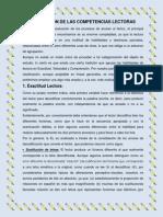 EVALUACIÓN DE LAS COMPETENCIAS LECTORAS