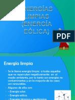ENERGÍAS LIMPIAS (eólica)