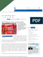 Carátula-Las 25 mejores empresas para trabajar, Articulo Impreso