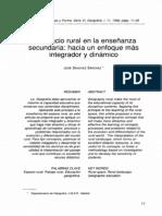 Espacio Rural Ensenanza Secundaria