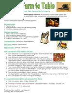 farm to table parent letter 2013
