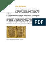 A religião dos hebreus