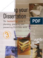 Writing Your Dissertation How to Plan, Prepare and Present Successful Work
