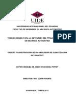 DISEÑO Y CONSTRUCCIÓN DE UN SIMULADOR DE CLIMATIZACIÓN AUTOMOTRIZ
