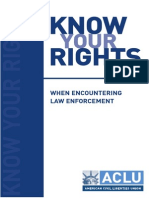 Know Your Rights ACLU