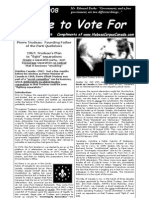 No One To Vote For - Vol 1 No 1 October 2008