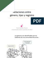 Paula González tipo textual, registro y género