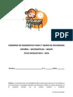 EXÁMENES DE DIAGNOSTICO 2° GRADO