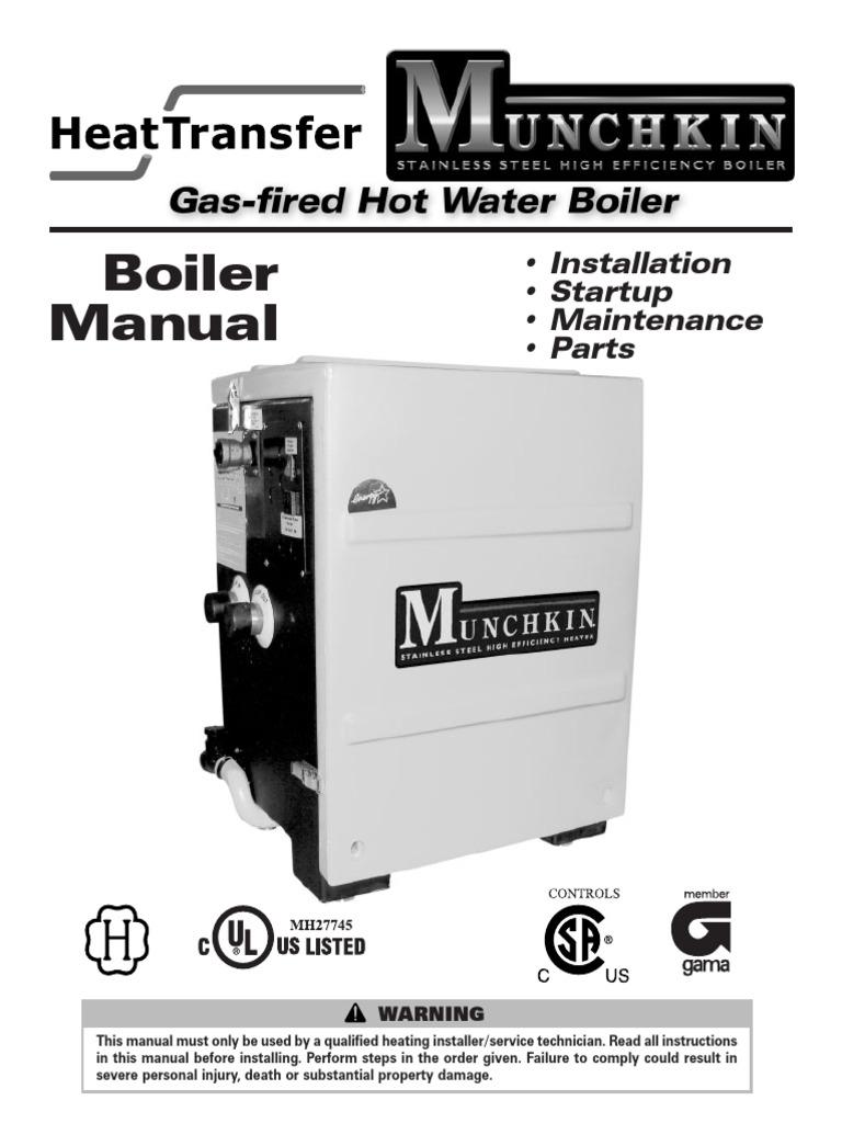 Munchkin Boiler Manual | Water Heating | Valve