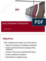 12 Using Database Checkpoints
