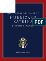 2006 Katrina Lessons Learned 228p