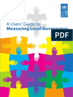 A Users' Guide to Measuring Local Governance